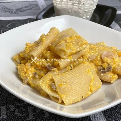 ricetta dietetica Pasta con Crema di Ricotta e Zucca