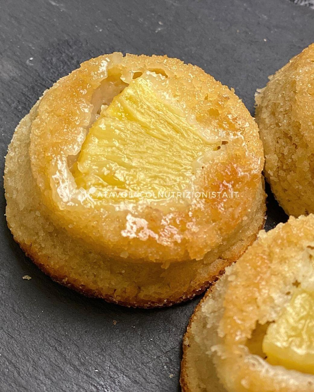 Pasticcini all'Ananas Senza Zuccheri Aggiunti con Farina di Avena