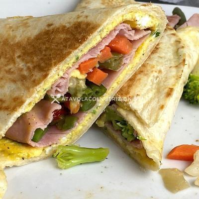 ricetta Piadina Omelette