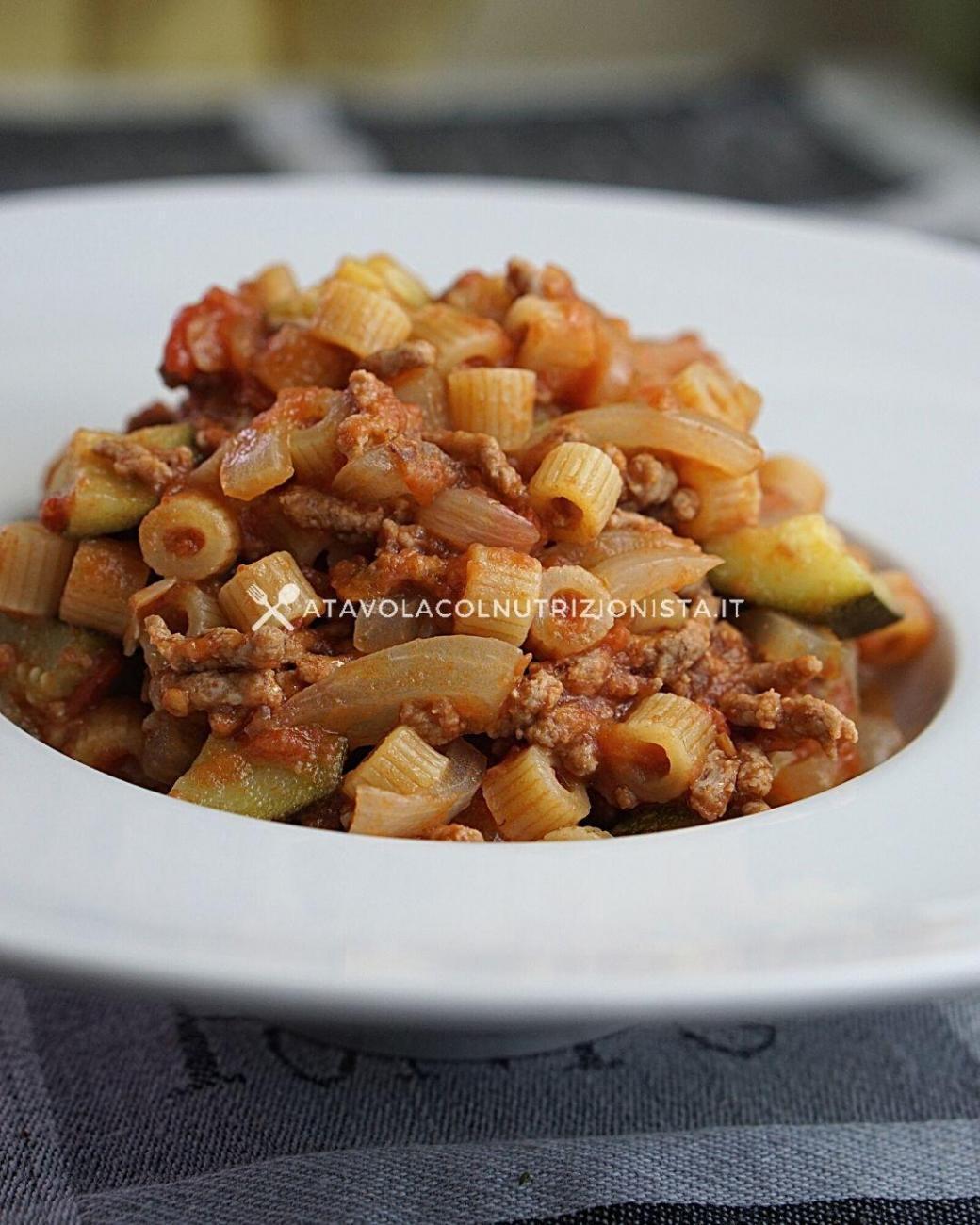 Pasta Risottata con Sugo di Macinato e Zucchine