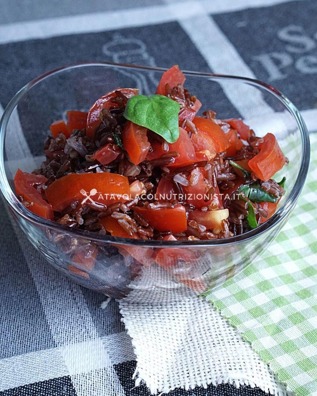 Insalata di Riso Rosso coi Pomodori